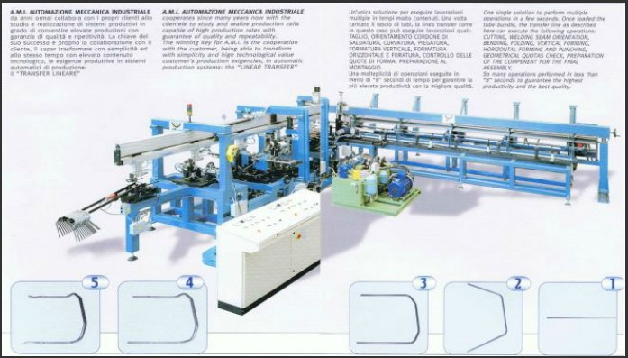 automatic tube transfer line